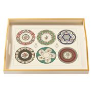 Whitelaw & Newton - Porcelain Plates & Cups Large Tray