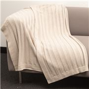 Bemboka - Pure Soft Combed Cotton Throw Flat Rib Wheat