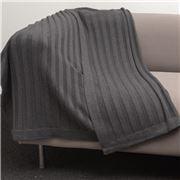 Bemboka - Pure Soft Combed Cotton Throw Flat Rib Charcoal