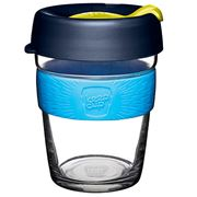 Keepcup - Brew Reusable Glass Cup Blueleaf 340ml