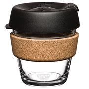 Keepcup - Brew Reusable Glass Cork Edition Black 177ml