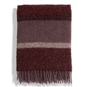 Lexington - Wool Boucle Throw Red Stripe 130x170cm