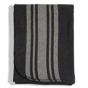 Lexington - Striped Wool Blanket Navy/Grey 140x200cm
