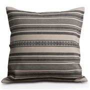 Lexington - Striped Linen Cotton Sham  Grey/Cream 50x50cm