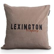 Lexington - Beige Fall Logo Velvet Sham 50x50cm