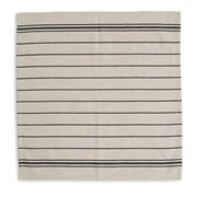 Lexington - Stripe Napkin White & Navy 50x50cm