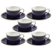 Halcyon Days - GC Antler Trellis Midnight Teacup&Saucer Set