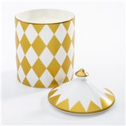 Halcyon Days - Lidded Parterre  Candle Jasmine Gold
