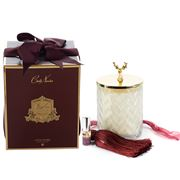 Cote Noire - Herringbone Candle with Gold Reindeer Lid