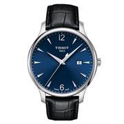 Tissot - Quartz Blue Dial w/Black Leather Strap 42mm