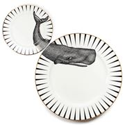 Yvonne Ellen - Monochrome Whale of a Time Plate Set 2pce