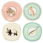 Yvonne Ellen - Happy Hour Animals Cake Plates 16cm Set 4pce