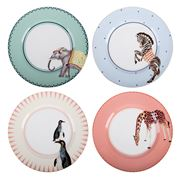 Yvonne Ellen - Tea Time  Dinner Plate Set 4pce