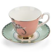 Yvonne Ellen - Tea Time Elephant Teacup and Saucer Set 2pce