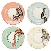 Yvonne Ellen - Tea Time Animal Tea Plates 16cm Set 4pce