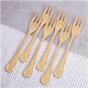 Herdmar - Santamarta Cake Fork Set Gold 6pce