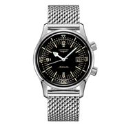 Longines - Legend Diver Black Dial S/Steel Strap Watch 42mm