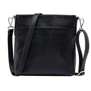 Serenade Leather - Elegant Jade Black Leather Cross Body Bag