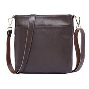 Serenade Leather - Elegant Jade Choc. Leather Cross Body Bag
