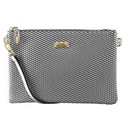 Serenade Leather - Cosmopolitan Cross Body Bag Silver