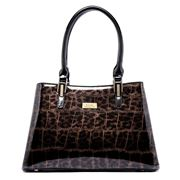 Serenade Leather - Leopard Leather Handbag
