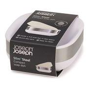 Joseph Joseph - Slim Steel Compact Soap Dish White/Silver
