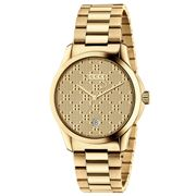 Gucci - G-Timeless Yellow Gold Diamond Dial Watch 38mm