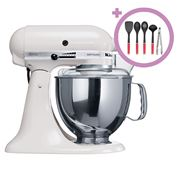 KitchenAid - KSM150 White Stand Mixer + Utensil Set