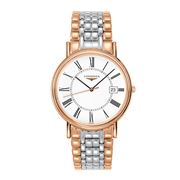 Longines - Presence Wht Dial Ros Gold & S/Steel Watch 38.5mm