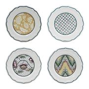 Gien - Canape Plates Assorted Dominote Set 4pce