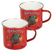 Australian Heritage Icons - Arnott's Enamel Mug Set Red 2pce