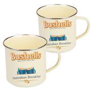 Australian Heritage Icons - Bushells Tea Enamel Mug Set 2pce