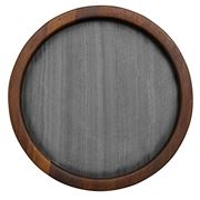 Tempa - Buckley Round Serving Board Black 25cm