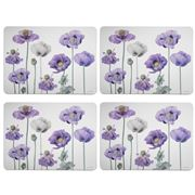 Ashdene - Purple Poppies Collection Placemat Set 4pce