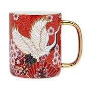 Ashdene - Osaka Collection Red Cranes Bond Mug 340ml