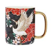 Ashdene - Osaka Collection Black Cranes Bond Mug