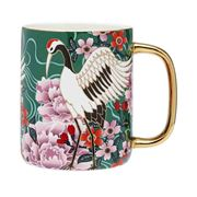 Ashdene - Osaka Collection Emerald Cranes Bond Mug  340ml