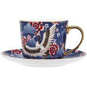 Ashdene - Osaka Collection Blue Cranes Teacup & Saucer 230ml