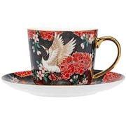 Ashdene - Osaka Collection Black Cranes Teacup & Saucer 230m