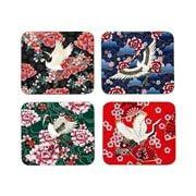 Ashdene - Osaka Collection Coaster Set Assorted Colours 4pce