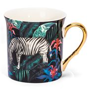 Ashdene - In The Jungle Collection Tall Flare Mug Zebra