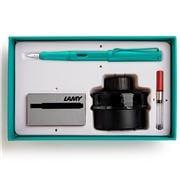 Lamy - Safari Special Ed. Aquamarine Fountain Pen Set 4pce