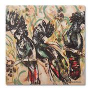 Thirstystone - Black Cockatoo Coaster