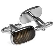 Onyx-Art - Rhod/Grey Cufflinks