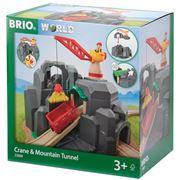 Brio - Crane & Mountain Tunnel Set 7pce