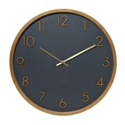 One Six Eight - Scarlett Silent Wall Clock Charcoal 35cm