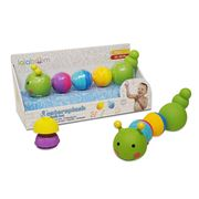 Lalaboom - Caterpillar Bath Toy 8pce