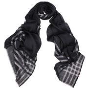 DLUX - Phantom Wool/Silk/Lurex Wrap Black & Silver