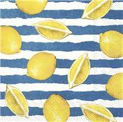 IHR - Lunch Napkin Summer Lemons Blue 20pce