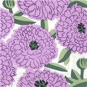 Marimekko - Lunch Napkin Primavera  20pce Lilac